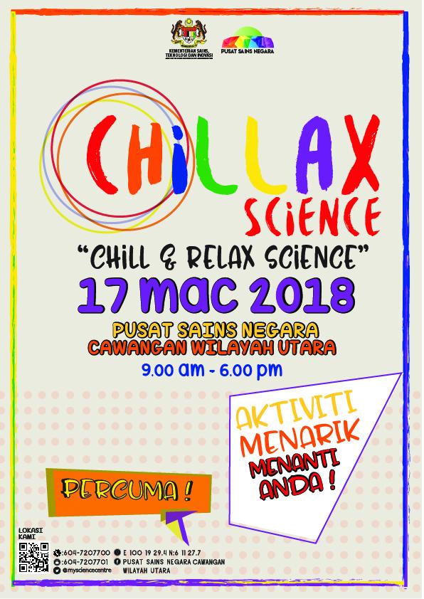 Poster Chill & Relax Science PSN Kedah
